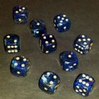 12mm Magma Spot Dice - Blue